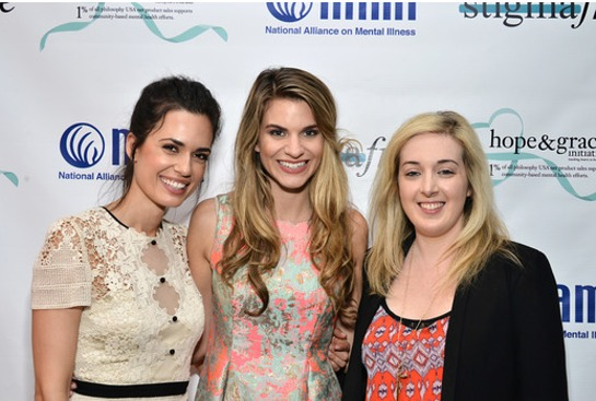 Torrey DeVitto, Rachel McCord and Jamie Stone at the Philosophy and NAMI #stigmafree luncheon in honor of Mental Health Awareness month