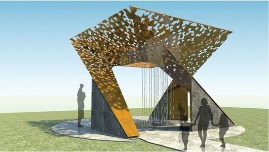 Rendering of the winning human rights memorial honoring the late Nelson Mandela