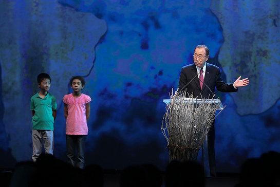 UN Secretary-General Ban Ki-moon opens the first-ever World Humanitarian Summit in Istanbul, Turkey