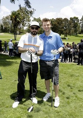Former Backstreet Boys AJ McLean and Nick Carter showed each other some love (and played as a team!) at the 44th Annual Los Angeles Police Memorial Foundation Celebrity Golf Tournament