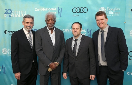(L-R) Randall Arney (Artistic Director), Morgan Freeman, Jeff Skoll and Gil Cates, Jr. (Executive Director)