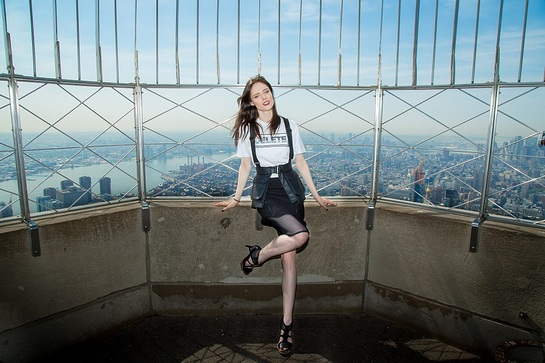 Coco Rocha Lights The Empire State Building In Honor Of DKMS