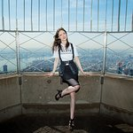 Coco Rocha Lights Empire State Building For World Blood Cancer Day
