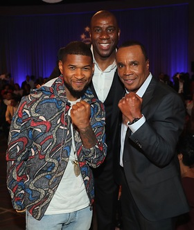 Usher, Magic Johnson and Sugar Ray Leonard