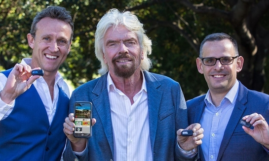 Glenn Riseley, GCC Founder and President (left), Sir Richard Branson (middle) and Tom Sermon, GCC CEO (right)