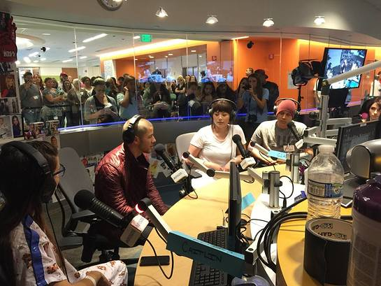 Nick Jonas Visits Ryan Seacrest Foundation Studios at CHOC