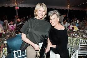 From left to right: Martha Stewart, Bette Midler