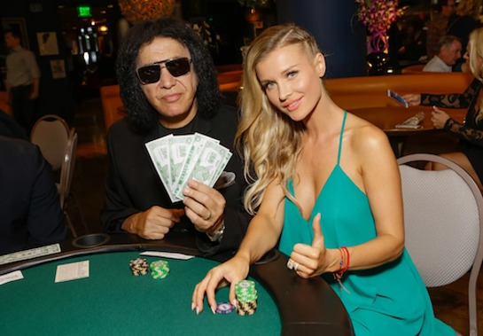 Gene Simmons and Joanna Krupa at Tower Cancer Research Foundation's 3rd Annual Ante Up for a Cancer Free Generation Poker Tournament and Casino Night