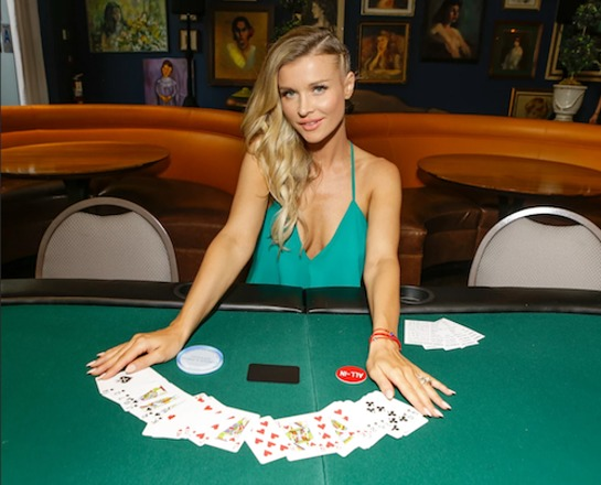 Joanna Krupa played blackjack dealer at Tower Cancer Research Foundation's 3rd Annual Ante Up for a Cancer Free Generation Poker Tournament and Casino Night