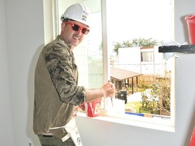 David Arquette lending a hand at the 2016 HOLLYWOOD BUILD's 'Power Women, Power Tools' event hosted by Habitat for Humanity of Greater Los Angeles
