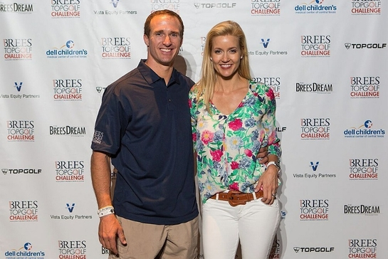 Drew and Brittany Brees