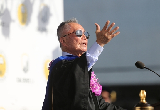 Actor and activist George H. Takei received an honorary Doctor of Humane Letters Friday during Commencement