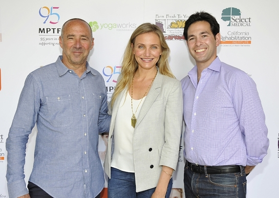 Cameron Diaz With MPTF President & CEO Bob Beitcher and (right) Scott Kaiser, MD, the event organizer