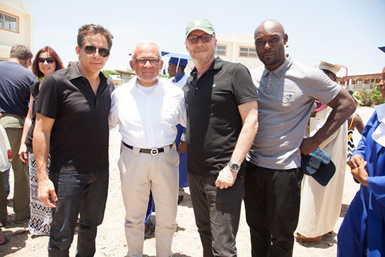 Ben Stiller, BOVET Owner Pascal Raffy, Director Paul Haggis, and Jimmy Jean-Louis