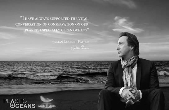 Julian Lennon Supports The Plastic Oceans Foundation