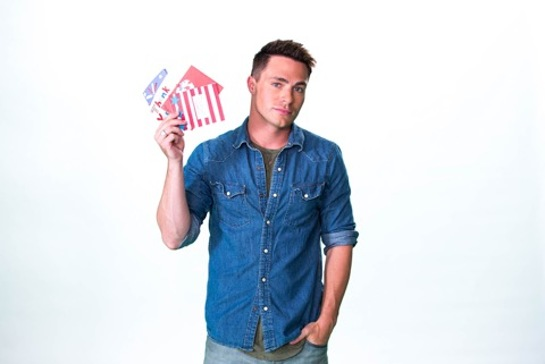 Colton Haynes Supports Smiles For Soldiers