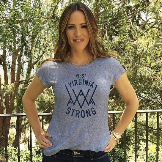 Jennifer Garner With West Virginia Strong T-shirt