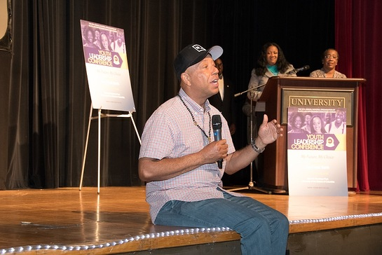 Russell Simmons addresses attendees at NOBLE's 15th Annual Youth Leadership Conference