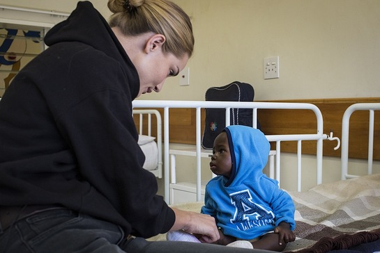 Unicef UK supporter Rosie Huntington-Whiteley visited Lesotho