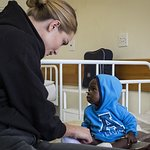 Rosie Huntington-Whiteley Meets Children Affected By Food Crisis In Lesotho