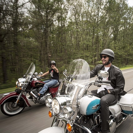 Gilles Marini and Michiel Huisman on the 2016 Kiehls LifeRide for amfAR