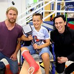 Chris Hemsworth And Tom Hiddleston Take Thor And Loki To Children's Hospital
