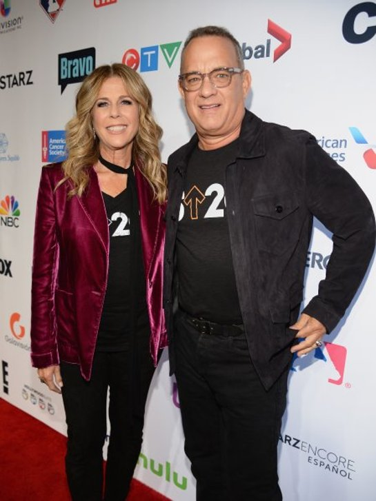 Rita Wilson and Tom Hanks attend Stand Up To Cancer