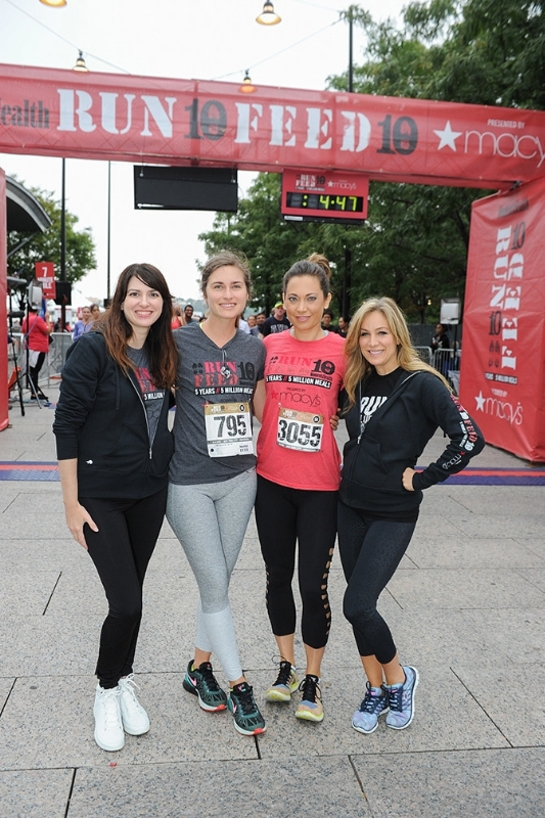 Amy Keller Laird, FEED Foundation founder Lauren Bush Lauren, ABC Good Morning America's Chief Meteorologist Ginger Zee, and Women's Health Publisher Laura Frerer-Schmidt at the 5th annual RUN 10 FEED 10 race in New York City on September 18