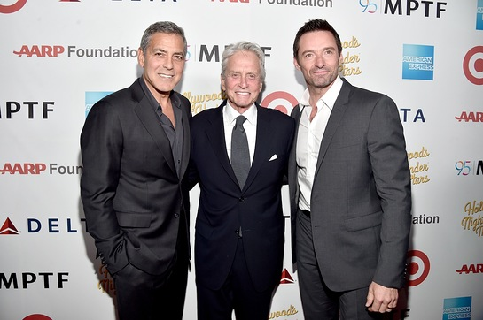 George Clooney, Michael Douglas and Hugh Jackman