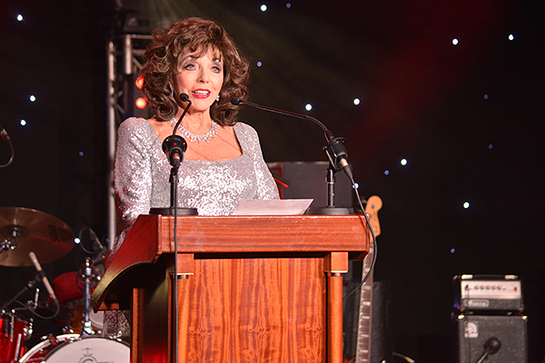 Dame Joan Collins at Shooting Star Chase Ball