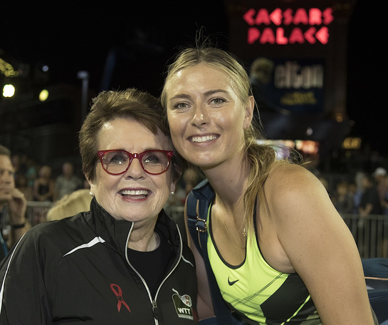 Billie Jean King and Maria Sharapova