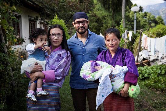 Aamir Khan in Bhutan to help advocate against malnutrition