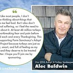 Alec Baldwin Speaks Out For Turkeys