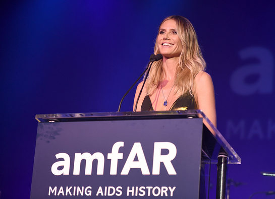 Heidi Klum at amfAR Inspiration Gala Los Angeles
