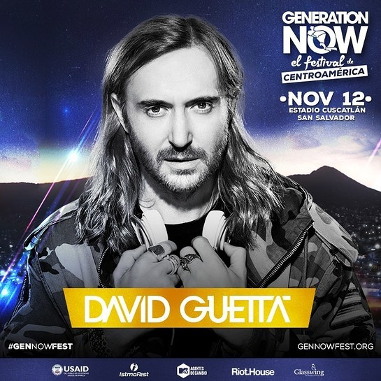 David Guetta joins Generation Now youth festival for Central America