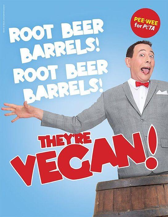 Pee Wee Herman PETA Ad