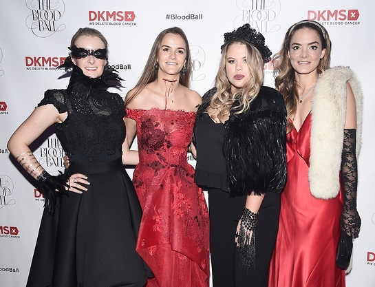 Charlotte Santo Domingo joins DKMS CEO Carina Ortel and Guests