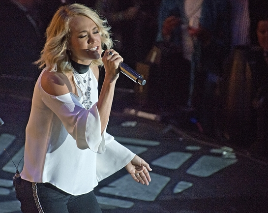 Carrie Underwood performs aboard the new Carnival Vista