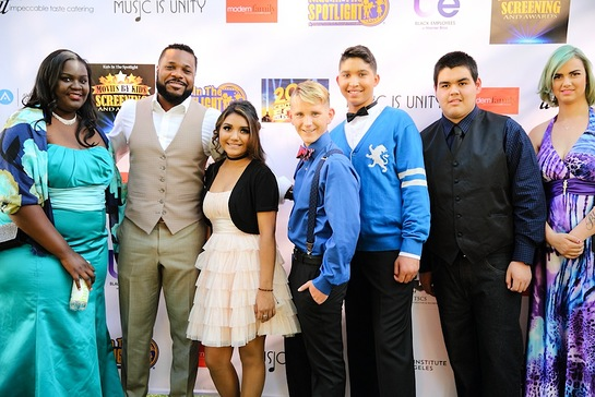 Malcolm-Jamal Warner spends time with foster youth of Kids In The Spotlight at Movies By Kids Screening and Awards at Fox Studios