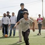 Liam Neeson Meets With Syrian Children And Youth In Jordan