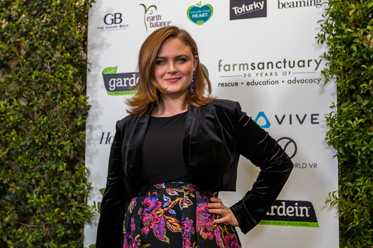 Emily Deschanel At Farm Sanctuary 30th Anniversary Gala
