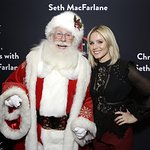 Kristen Bell Supports Alliance Of Moms At The Grove Christmas With Seth MacFarlane
