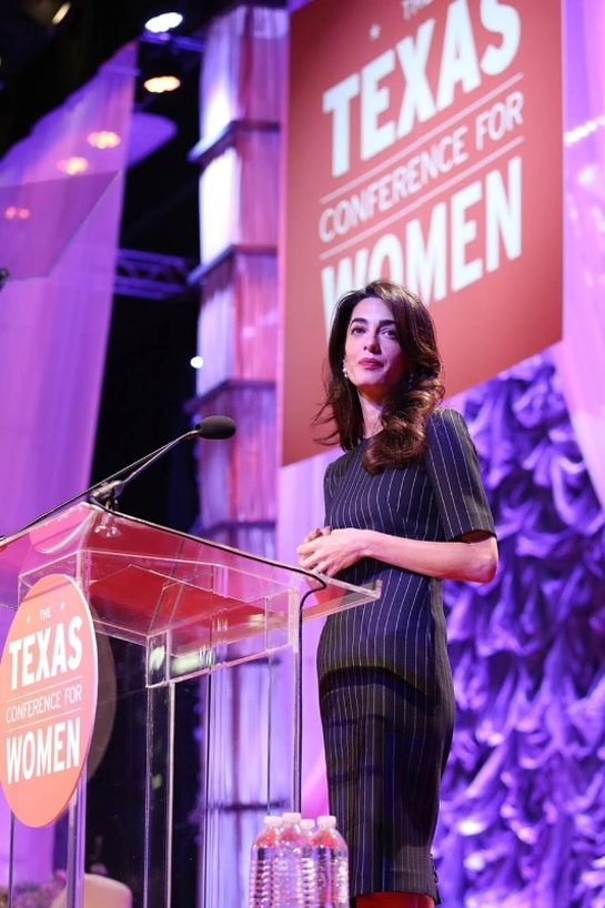 Amal Clooney at 17th Annual Texas Conference for Women