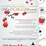Stars To Attend 2016 Los Angeles Police Memorial Foundation Celebrity Poker Tournament