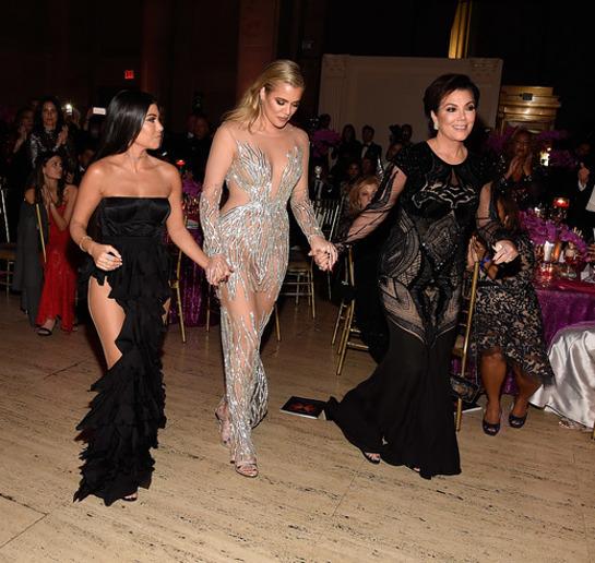 Kourtney Kardashian, Khloe Kardashian, and Kris Jenner