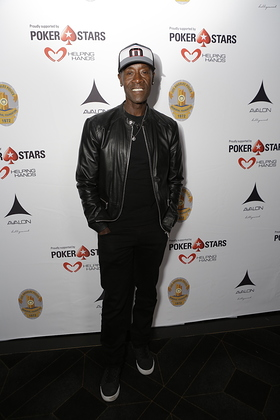 Don Cheadle hosted the Los Angeles Police Memorial Foundation Celebrity Poker Tournament with PokerStars Helping Hands at The Avalon