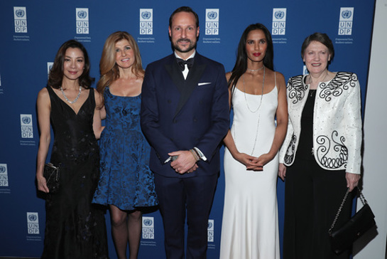 Michelle Yeoh, Connie Britton, His Royal Highness Crown Prince Haakon of Norway, Padma Lakshmi and UNDP Administrator Helen Clark