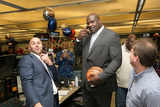 Shaquille O'Neal participated in ICAP's 24th annual global Charity Day at the firm's Jersey City office