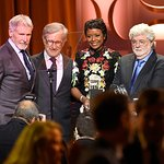 Steven Spielberg Honors George Lucas And Mellody Hobson With 2016 Ambassador For Humanity Award