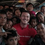 Luke Evans Travels To India To Support Save The Children's Christmas Jumper Day